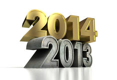 2014 Gold Year Royalty Free Stock Photo