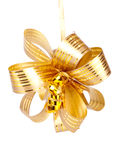 Gold yellow bow Royalty Free Stock Image