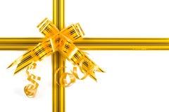 Gold-yellow bow Stock Photo