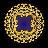 Gold yellow circle Stock Images
