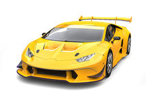 Gold yellow fast race car Royalty Free Stock Image