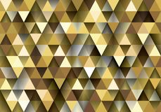 Gold yellow low polygon abstract background, golden triangular wallpaper, saffron geometric technology banner royalty free stock photos