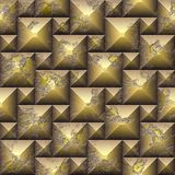 Seamless relief 3d mosaic pattern of weathered cubes Stock Photography