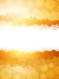 A gold and yellow sparkle card background. EPS 8 Royalty Free Stock Photos