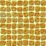 Gold yellow stone plastic tiles seamless pattern texture Royalty Free Stock Photography