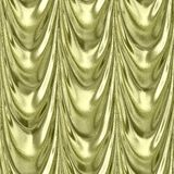 Gold yellow textile drapery seamless pattern Royalty Free Stock Photography