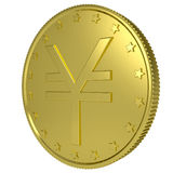 Gold yen Royalty Free Stock Photo