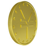 Gold yen Royalty Free Stock Image