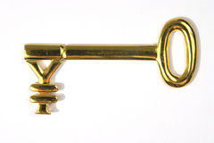 Gold yen key Royalty Free Stock Photo