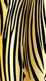 Gold zebra pattern. Gold zebra abstract background. Vector, black strips on gold background. Digital illustration. Pattern for art, print, fashion, textile, web Royalty Free Stock Photos