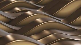 Gold zeichnet Felder vj Schleife stock video footage