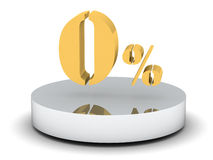Gold zero percent Stock Photography