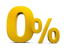 Gold Zero Percent Stock Photo