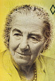 Golda Meir. (1898-1978) on 10 New Sheqalim 1992 Banknote from Israel. 4th Prime Minister of Israel Royalty Free Stock Photos