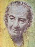 Golda Meir portrait. From Israeli money Royalty Free Stock Photos