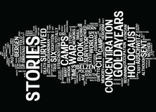 Golda S Stories Of The Holocaust Word Cloud Concept. Golda S Stories Of The Holocaust Text Background Word Cloud Concept Royalty Free Stock Photography