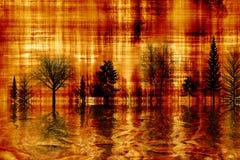 Goldabstrakter Herbst. Stockbild