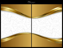 Goldabstrakter Hintergrund, -frontseite und -rückseite lizenzfreie abbildung