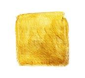 Goldacrylquadrat Lizenzfreies Stockfoto