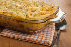 Goldaen Shepherd's pie Stock Photography