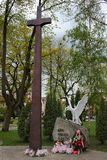 Monument to the White Eagle in Goldap, Poland