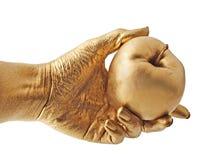 Goldapfel lizenzfreies stockbild