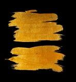 Goldaquarellbeschaffenheitsfarbenfleck-Zusammenfassungsillustration Glänzender Bürstenanschlag für Sie erstaunliche Projektplanun Lizenzfreies Stockfoto
