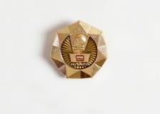 Goldausweis mit dem Profil von Lenin und von Aufschrift Stockfotos