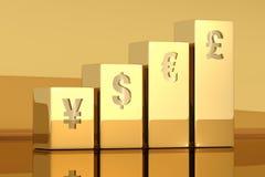 Goldbalkendiagramm Lizenzfreie Stockfotos