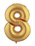 Goldballon acht Lizenzfreie Stockbilder
