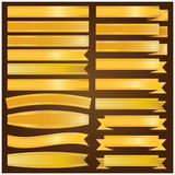 Goldband- und -fahnenvektor Lizenzfreie Stockfotografie