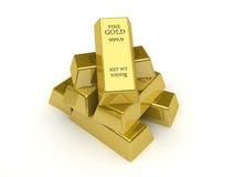 Goldbarren. Lizenzfreies Stockbild