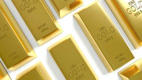 Goldbarren auf dem weißen Hintergrund lizenzfreie stockfotos