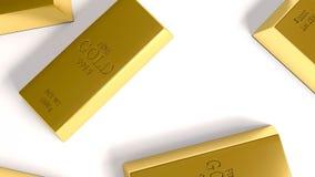 Goldbarren auf weißer Hintergrundillustration lizenzfreie stockbilder