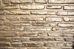 Goldbarren background. brick wall for designer Royalty Free Stock Images