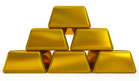 Goldbarren Lizenzfreies Stockbild