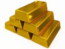 Goldbarren Stockfoto
