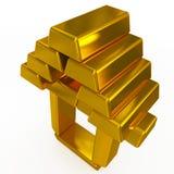 Goldbarren Struktur stock abbildung