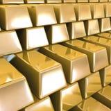 Goldbarren. Vektorhintergrund Stockfoto