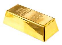Goldbarrennahaufnahme Stockfotografie