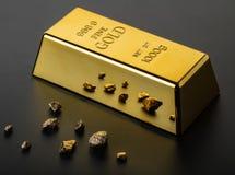 Goldbarrennahaufnahme Lizenzfreie Stockfotos
