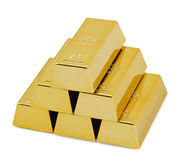 Goldbarrenstäbe Stockbild