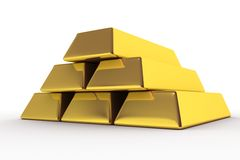 Goldbars 3D Royalty Free Stock Photo