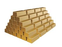 Goldbars pyramid Stock Photography