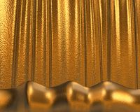 Goldbeschaffenheit/-hintergrund stock abbildung