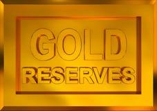 Goldbestände stock abbildung