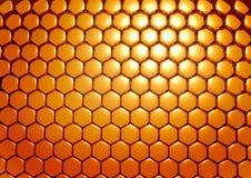 Goldbienenwaben Lizenzfreies Stockbild