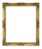 Goldbilderrahmen lizenzfreie stockfotos