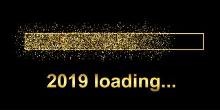 Goldbläser-Lasts-Stange 2019 Erwartung des Feiertags - stock abbildung
