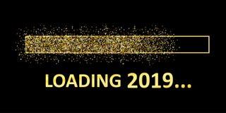 Goldbläser-Lasts-Stange 2019 Erwartung des Feiertags - vektor abbildung